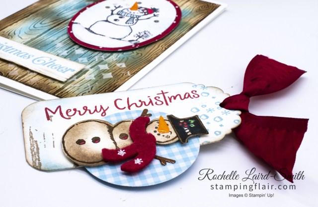 Christmas Gift Tag with Snowman Season Stampin' Up!