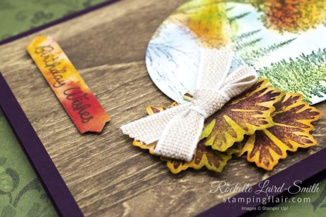Pressed Petals Designer Series Paper creates a fall card, Kre8tors Blog Hop