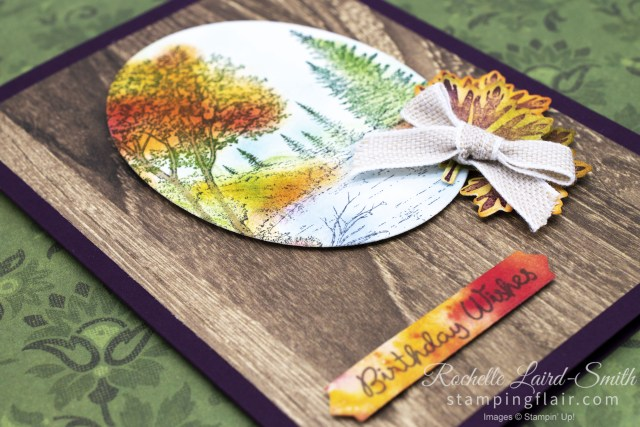 Peaceful Place, Autumn/Fall handmade card with autumn leaves