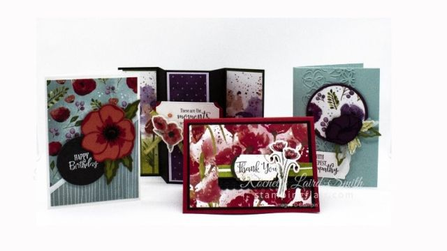 Cardmaking Class, Painted Poppies, Stampin Up
