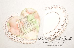 Stampin' Up!, Hearfelt bundle, Heart doily cut in half and layered