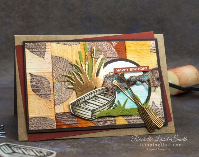 Handmade card with Kayak, canoe with By the Dock stamp set, Stampin' Up!