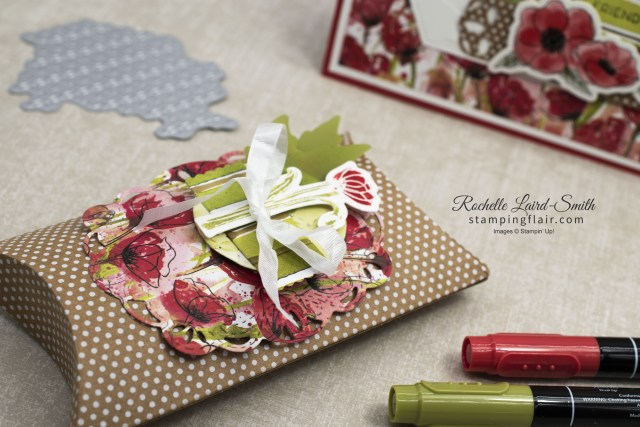 Coordinated card and gift box with flowers-Peaceful Poppies Elements