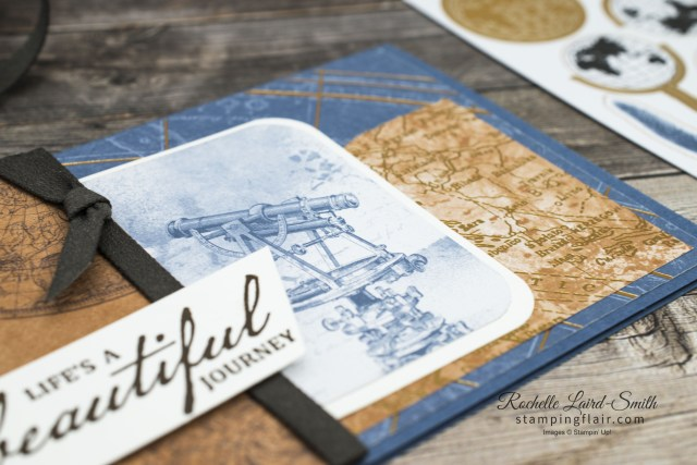 Create a quick masculine card using the World of Good Memories & More card pack