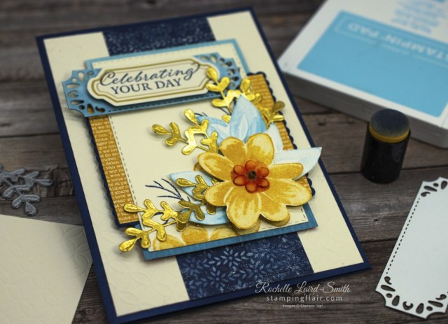 Gorgeous Posies stamp set and Boho Chic Product Medley combined for a sketch card