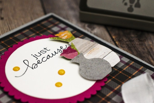 Fun ways with Designer Series Paper, Punch it out, Fun Ways with DSP, Vases Builder Punch, Stampin' Up!, SU!, Plaid Tidings DSP
