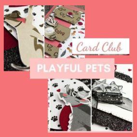 December 2020 Card Club – Playful Pets