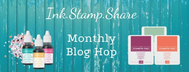 Ink Stamp Share Monthly Blog Hop Header