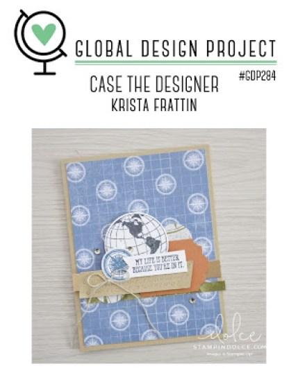 Global Design Project #284, Case the Designer, World of Good Suite, Game on Stamp set, Stampin' Up!, SU