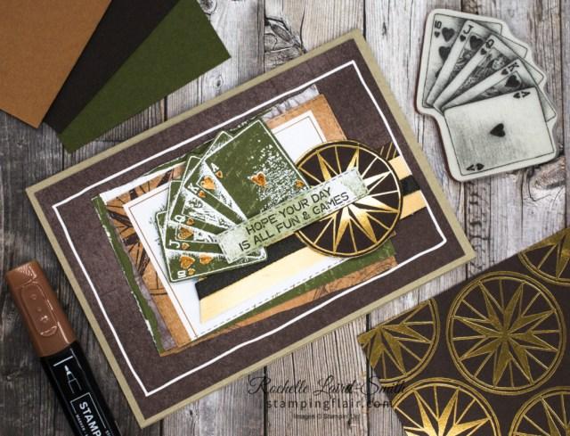 Ink Stamp Share Blog Hop, March 2021, Masculine Card, Men, Boys, Card for Man, Game on Stamp Set, World of Good Suite, Stampin' Up!, SU, Deck of cards, Card games