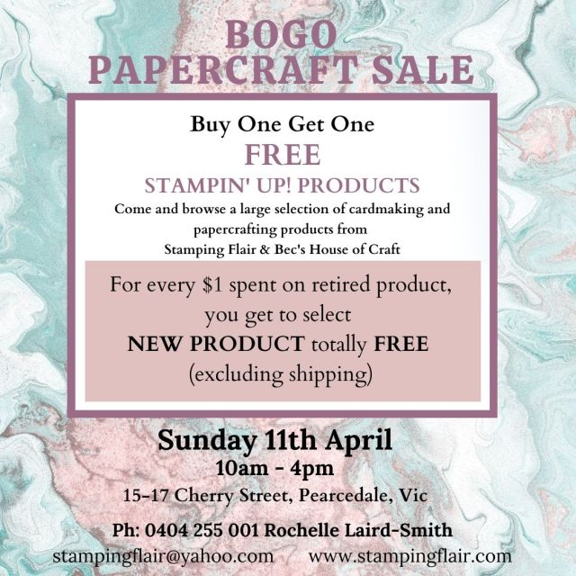 BOGO SALE, Buy One Get one Free Sale, Stampin' Up!, SU