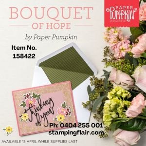 Bouquet of Hope Item number and phone details
