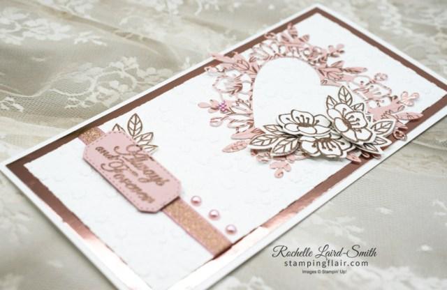 Stamp 'n Hop Blog Hop, Wedding Card, Forever and Always, lace heart, Ornate Floral  Embossing folder, Stampin' Up!, SU, Embossed Wedding card