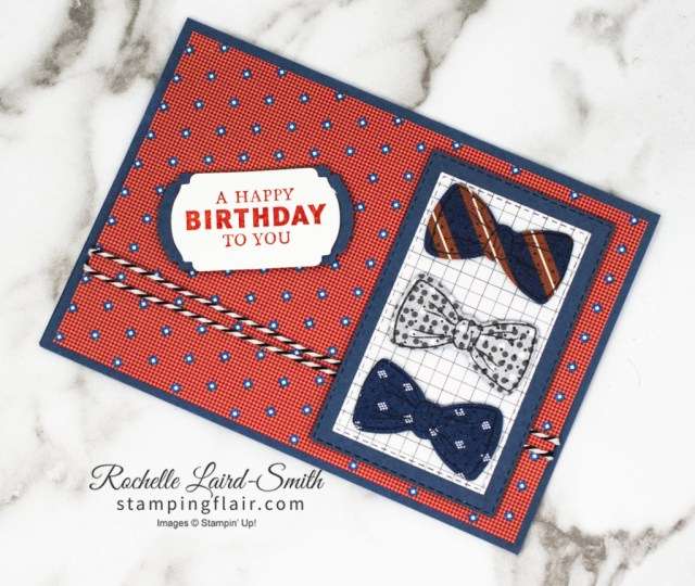 Stamping Inkspirations Blog Hop, April 2021, Well Suited bundle, Masculine, Male themed birthday card, Bow tie, Stampin' Up!, SU