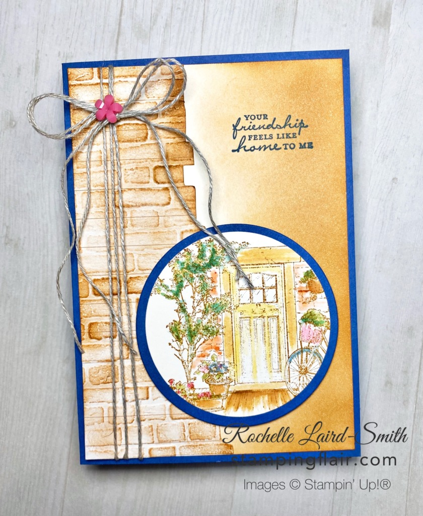 Feels Like Home, Sale-A-Bration 2021, Stampin' Up!, SU, Watercolouring, Brick & Mortar Embossing Folder