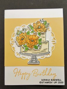Birthday card with Happy Birthday To You stamp set
