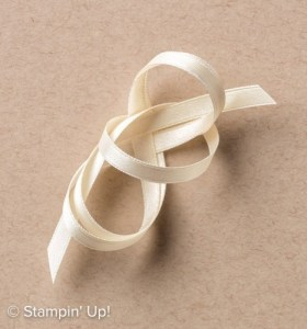 "Very Vanilla 1/4"" Satin Ribbon-142794, Stampin Up, 2017 Occasions Catalogue"