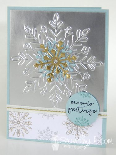 Cheers To The Year Amp Winter Wonder Embossed Snowflake