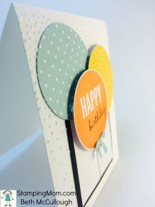 tampinUp birthday card made with the Balloon Framelits, designed by demo Beth McCullough. Please see more card and gift ideas at www.StampingMom.com #StampingMom