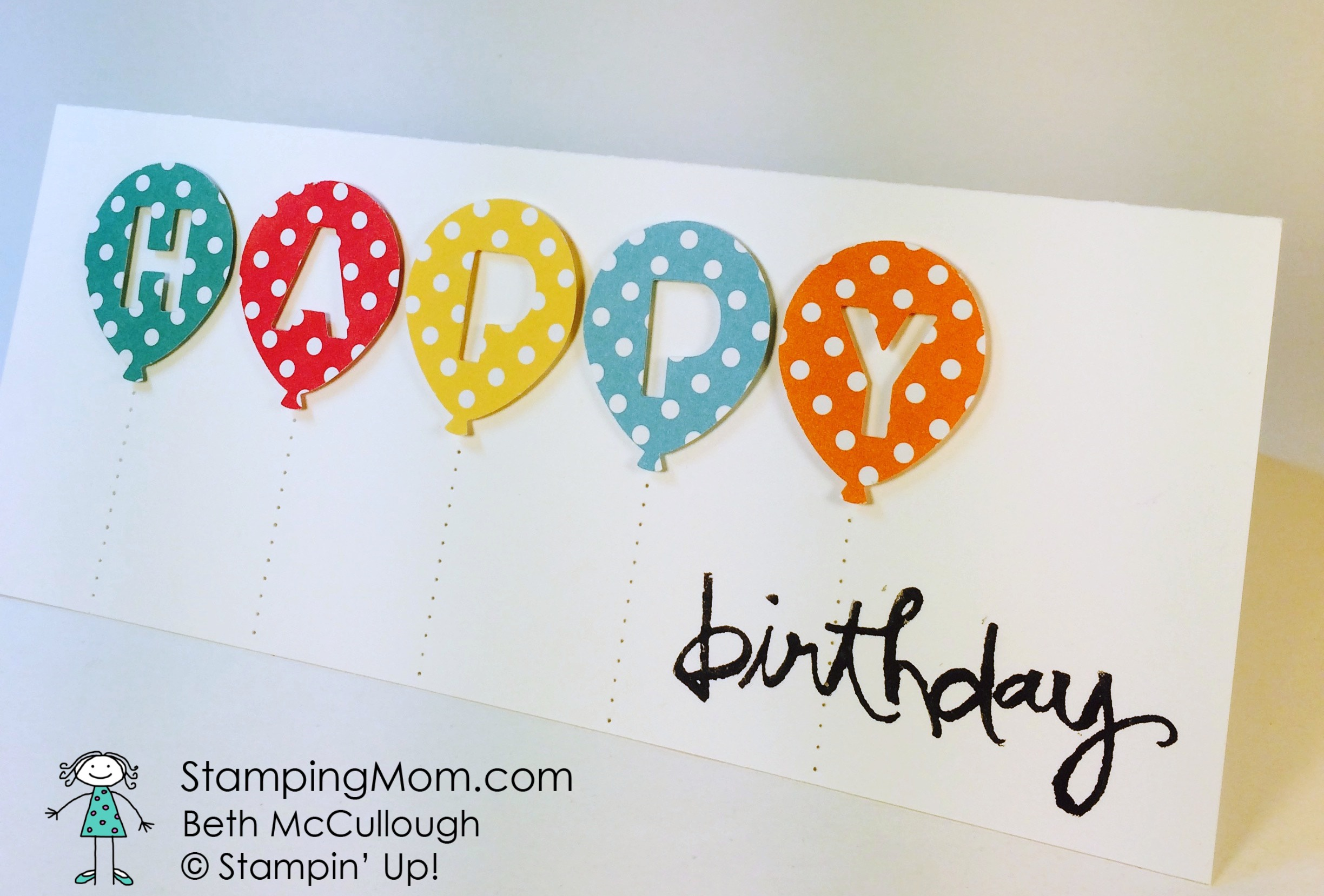 Happy Birthday Stamping Mom – Happy Early Birthday Card