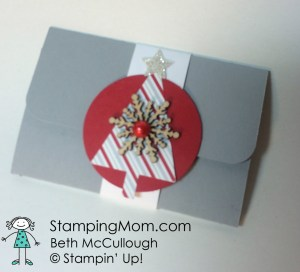 StampinUp Pop Up Gift card holder designed by demo Beth McCullough.  Please see more card and gift ideas at www.StampingMom.com #StampingMom