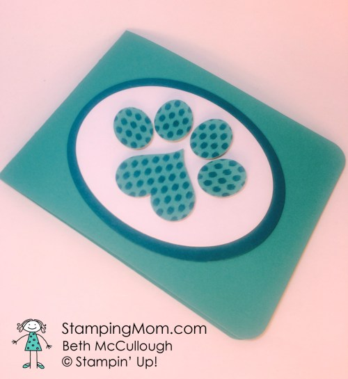 StampinUp Pet Sympathy card designed by demo Beth McCullough.  Please see more card and gift ideas at www.StampingMom.com #StampingMom