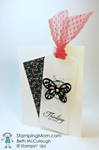 StampinUp sympathy card made with the Bold Butterfly Framelits, designed by demo Beth McCullough.  please see more card and gift ideas at www.StampingMom.com #StampingMom