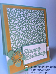 StampinUp birthday card designed by demo Beth McCullough.  Please see more card and gift ideas at www.StampingMom.com #StampingMom