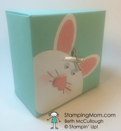 StampinUp Gift Box Punch Board Bunny Boxes designed by demo Beth McCullough.  Please see more card and gift ideas at www.StampingMom.com #StampingMom