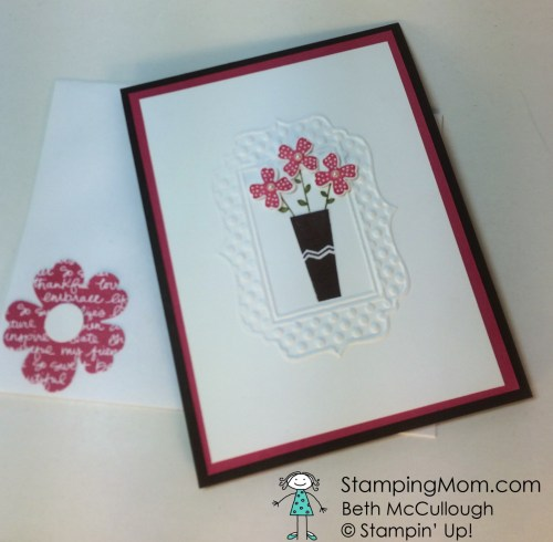 StampinUp All Occasion card made with the Pictogram Punches stamp set. Please see more card and gift ideas at www.StampingMom.com #StampingMom