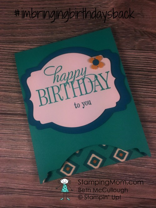 StampinUp CAS birthday card designed by demo Beth McCullough. See more card and gift ideas at www.StampingMom.com #StampingMom