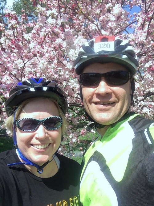 steve and beth biking trees