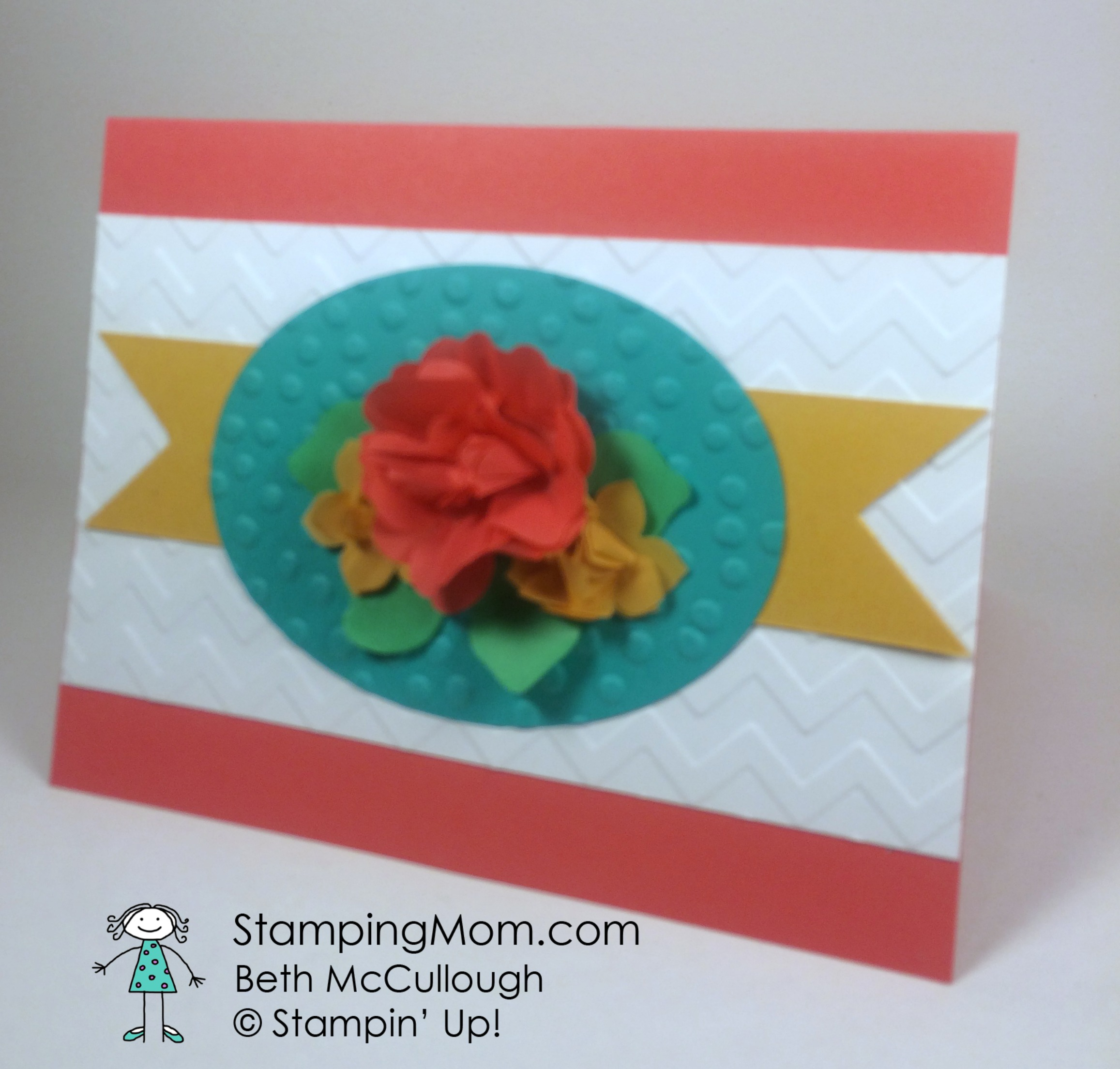 Tissue Paper Flowers Stamping Mom