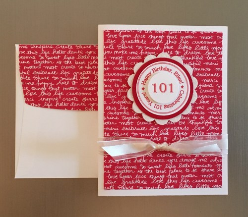 StampinUp 101 birthday card made by Lynn Tague.