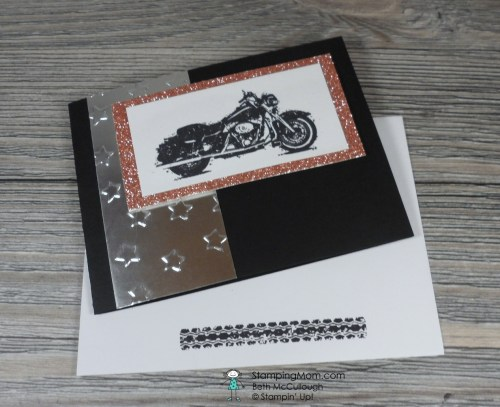 StampinUp One Wild Ride birthday card designed by demo Beth McCullough. Please see more card and gift ideas at www.StampingMom.com #StampingMom