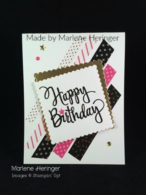StampinUp birthday card made by Marlene Heringer.
