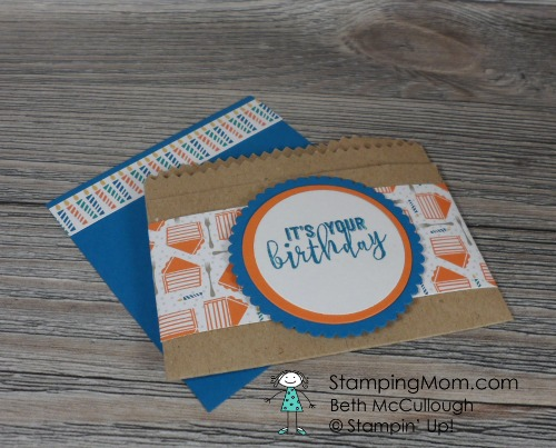 Stampin Up Birthday Gift Card Holder made with the Balloon Adventures stamp set available starting Jan. 4, 2017. If you want to purchase it sooner, please contact me at Beth@StampingMom.com Please see card and gift samples at www.StampingMom.com #StampingMom #cute&simple4u