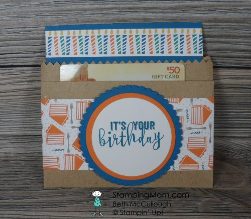 Stampin Up project made with the Party Animal Suite from the 2017 Occasions catalog, designed by demo Beth McCullough. Please see more card and gift ideas at www.StampingMom.com #StampingMom #cute&simple4u