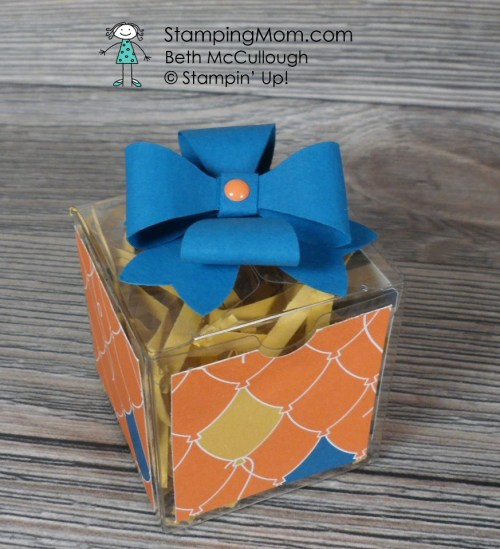 Stampin Up Clear Tiny Box designed by demo Beth McCullough. Please see more card and gift ideas at www.StampingMom.com #StampingMom #cute&simple4u