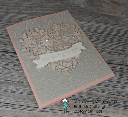 Stampin Up Thinking of you card designed by demo Beth McCullough. Please see more card and gift ideas at www.StampingMom.com #StampingMom #cute&simplie4u