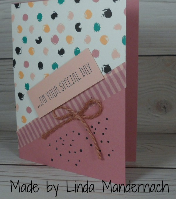 Stampin Up Birthday card made by Linda Mandernach. More card and gift ideas at www.StampingMom.com #StampingMom #cute&simple4u