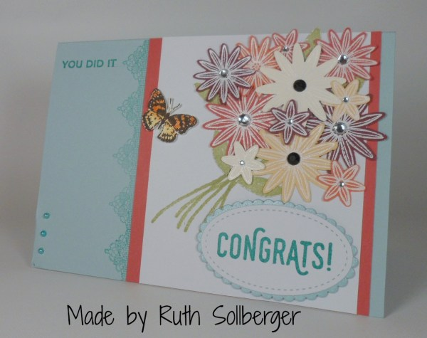 Stampin Up Graduation card made by Ruth Sollberger. Please see more card and gift ideas at www.StampingMom.com #StampingMom #cute&simple4u
