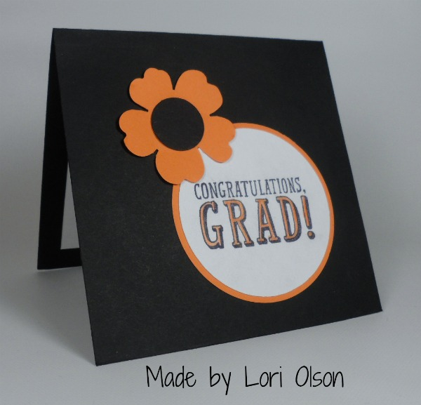 Stampin Up Graduation card made by Lori Olson. Please see more card and gift ideas at www.StampingMom.com #StampingMom #cute&simple4u
