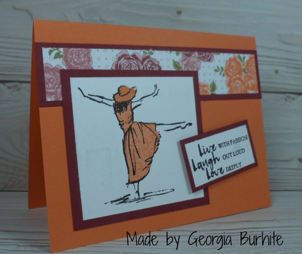 Stampin Up Beautiful You card made by Georgia Burhite.  Please see more card and gift ideas at www.StampingMom.com #StampingMom #cute&simple4u
