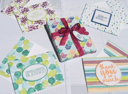 When you need a gift in a hurry, you'll be able to whip up these cards using the gorgeous Naturally Eclectic Designer Series Paper. Who wouldn't love a set of four handmade cards and envelopes in a cute box made with the Envelope Punch Board?! Make up several sets and you'll always have a gift handy for a special occasion.