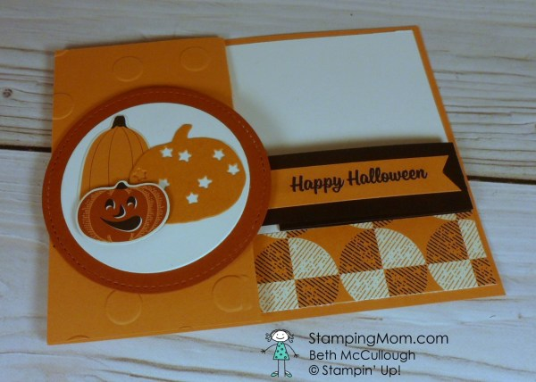 Stampin Up Spooky Cat CAS Halloween card designed by demo Beth McCullough. Please see more card and gift ideas at www.StampingMom.com #StampingMom #cute&simple4u