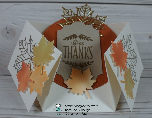 Stampin Up Thanksgivng invitation designed by demo Beth McCullough. Please see more card and gift ideas at www.StampingMom.com #StampingMom #cute&simple4u