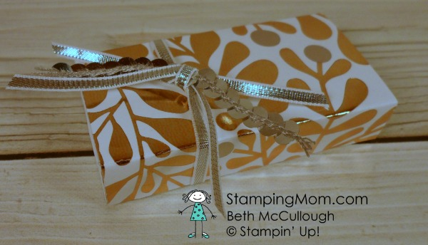Stampin' Up Year of Cheer 3 Nugget Box designed by demo Beth McCullough. Please see more card and gift ideas at www.StampingMom.com #StampingMom #cute&simple4u