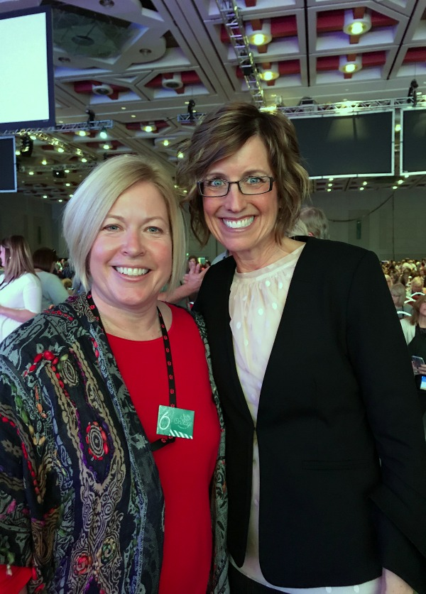 Stampin Up Cofounder and Board Chair, Shelli Gardner and demo Beth McCullough. Please see more card and gift ideas at www.StampingMom.com #StampingMom #cute&simple4u