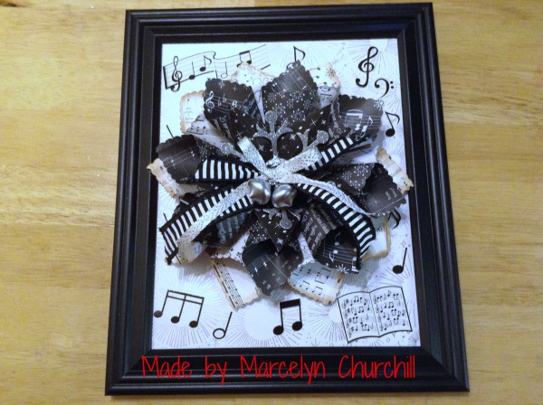 Stampin Up Framed Music made by Marcelyn Churchill. See more projects made by Marcelyn on Mondays at www.StampingMom.com #StampingMom #cute& simple4u